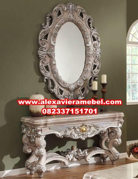 jual meja konsul klasik putih mewah, meja konsul klasik, meja konsul modern, meja konsul minimalis murah