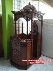 jual mimbar masjid murah ukiran jepara jati mpm-003