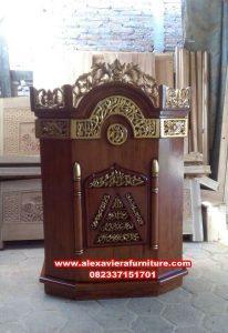 mimbar masjid sederhana, harga mimbar masjid murah, gambar mimbar masjid mpm-002