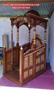 mimbar masjid ukir jati model terbaru, mimbar masjid, mimbar masjid sederhana, mimbar masjid minimalis