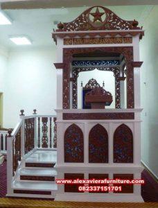 mimbar masjid ukiran jati jepara mpm-009