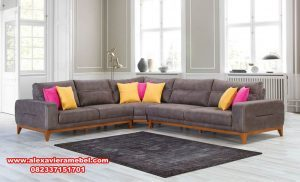 sofa sudut minimalis modern jati srt-002