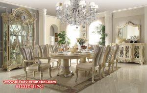 model meja makan modern terbaru turkiye style, harga meja makan olypic, meja makan modern, meja makan mewah, meja makan