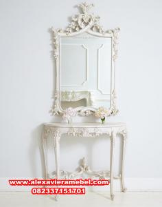 Set meja konsul dan figura ukiran minimalis modern Mkr-010