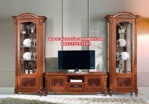 Bufet tv klasik mewah jati jepara SBT-006