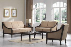 Desain Sofa Ruang Tamu Minimalis Jati Terbaru SRT-015