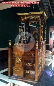 Harga Mimbar Masjid Murah Jati Jepara Mpm-012