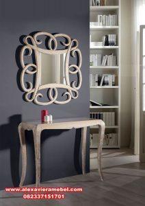 Jual meja konsul cermin minimalis light ivory Mkr-009