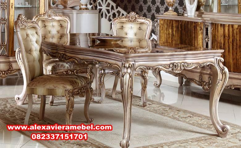 jual meja makan mewah modern rayyano 6 kursi, harga meja makan olympic, daftar harga meja makan, model meja makan sederhana, meja makan mewah