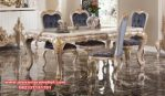 meja makan mewah modern terbaru ukir skm-015
