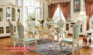 set kursi makan klasik mewah silver terbaru, meja makan mewah, harga set meja makan mewah, meja makan jepara terbaru, meja makan mewah modern, set kursi makan, meja makan klasik