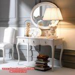 Set meja konsul italy klasik putih Mkr-011