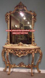 Set meja konsul klasik mewah gold luxury Mkr-013