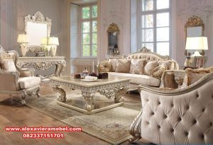 Set Sofa Ruang Tamu Mewah Modern Cantik Alexaviera Furniture