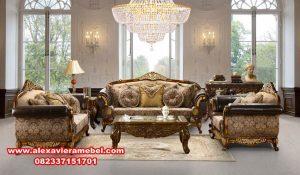 Set sofa ruang tamu murah elegant jepara terbaru SRT-021