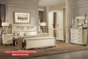 set tempat tidur mewah modern alezi KS-001