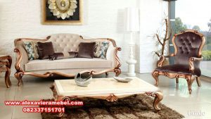 Sofa ruang tamu klasik modern kissa xaviera SRT-022