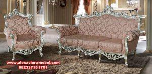 Sofa ruang tamu mewah klasik jepara terkini SRT-018