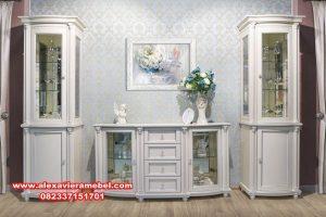 harga set bufet tv klasik modern putih sbt-012