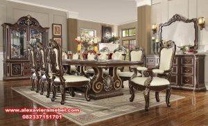 model meja makan klasik modern, daftar harga meja makan, set kursi meja makan klasik, meja makan modern, meja makan mewah modern, harga set meja makan mewah