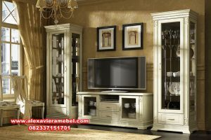 Set bufet Tv mewah minimalis putih ikea SBT-009