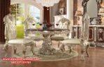 set meja makan klasik mewah ukir relief maharaja skm-021