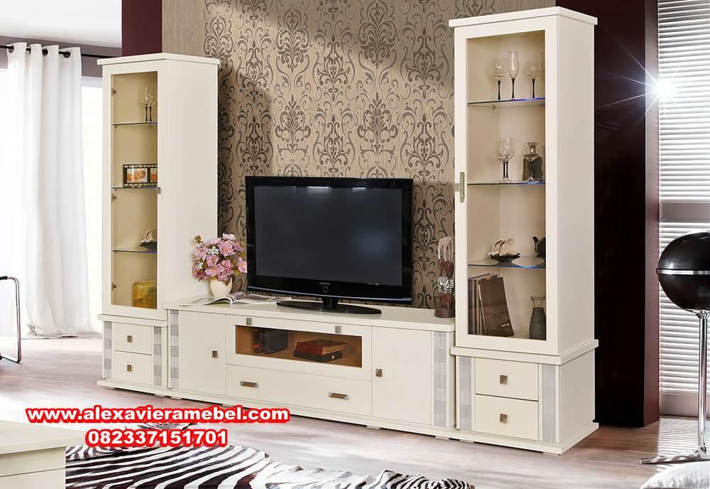 Bufet Tv Minimalis Mewah Kayu Mahoni Berkualitas Alexaviera Furniture