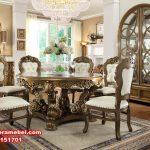 harga set meja makan mewah klasik ukiran, meja makan mewah, meja makan klasik, meja makan klasik mewah, set kursi makan klasik