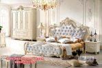 Harga tempat tidur mewah putih duco modern Ks-010