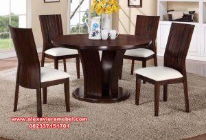 meja makan 4 kursi minimalis jari-jari, meja makan Jepara terbaru, meja makan jati, meja makan mewah minimalis, model meja makan sederhana, meja kursi makan