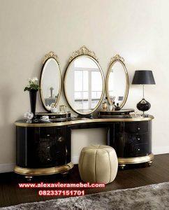 Meja rias cermin mewah modern vintage Mkr-017