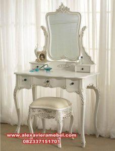 Meja rias putih klasik mewah Mkr-019