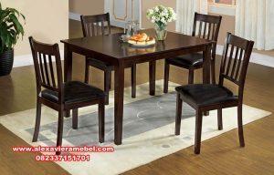 Model meja makan minimalis jati sederhana Skm-029