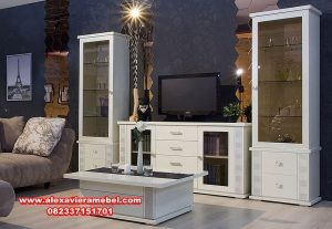 Bufet tv duco minimalis mewah kekinian Sbt-017