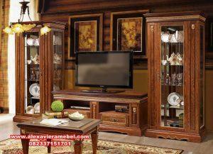 Set bufet tv jati Jepara terbaru Sbt-020