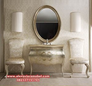 Set meja konsul mewah modern gold tifani Mkr-028