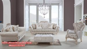 Set sofa tamu mewah modern duco terbaru Srt-033