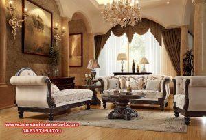 Sofa ruang tamu jati modern mewah angsa Srt-026