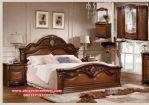 Desain 1 set tempat tidur jati mewah modern Ks-021