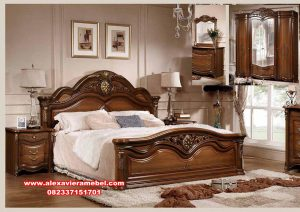 Desain 1 set tempat tidur jati mewah modern, harga kamar set mewah, kamar set mewah terbaru, kamar set jati, kamar set model terbaru, harga tempat tidur mewah modern, kamar set pengantin