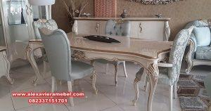 Harga set meja makan modern mewah duco alexandria Skm-038