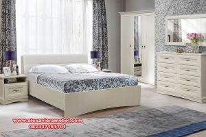 Kamar set minimalis modern putih model spalya Ks-018