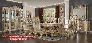 Meja makan ukiran klasik duco monalisa Skm-040