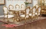 Model meja makan gold klasik mewah tupello Skm-036