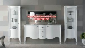 Harga set bufet tv minimalis duco contemporary Sbt-027