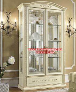 lemari hias kristal putih duco camel sienta, lemari pajangan, bufet tv, bufet tv minimalis, bufet tv terbaru