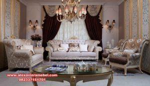 Model set sofa tamu zalina mewah klasik modern Jepara Srt-040