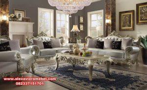 Set kursi tamu mewah modern putih kualitas terbaik Srt-038