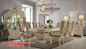 set meja makan duco klasik modern abidzary, meja makan klasik, model meja makan klasik modern, set kursi makan klasik, meja makan klasik mewah, meja makan mewah modern, meja makan mewah, meja kursi makan