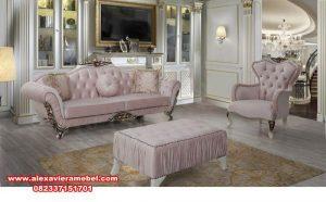 Sofa ruang tamu modern murah pink rose berkualitas Srt-039